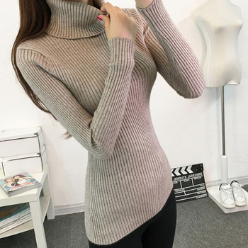 Thick Turtleneck Warm Women Sweaters Autumn Winter Knitted Femme Pull High Elasticity Soft Female Pullovers Sweater turtleneck warm women sweater thick autumn winter knitted femme pull high elasticity soft female pullovers sweater