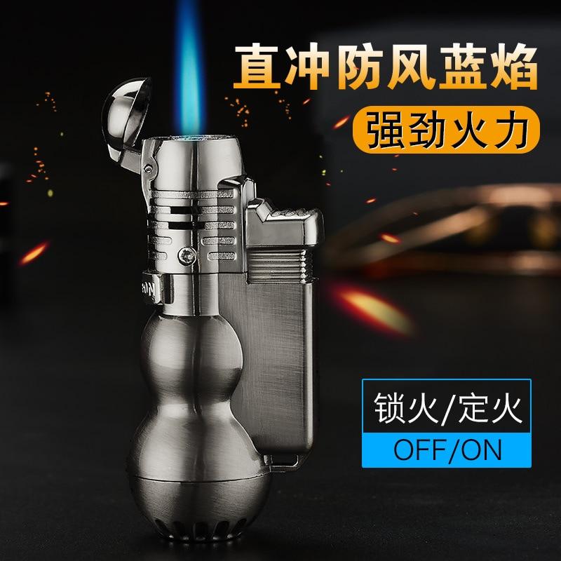 Portable Spray Gun Torch Lighter Jet Butane Pipe Cigar Lighter Gas All Metal 1300 C Fire Windproof For Outdoor Welding No Gas