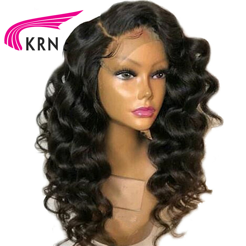 KRN Curly Brazilian Lace Front Human Hair Wigs Bleached Knots Side Part Remy Pre Plucked Lace