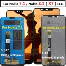 For Nokia 7.1 LCD Display Touch Screen Digitizer For Nokia 8.1 LCD Rep