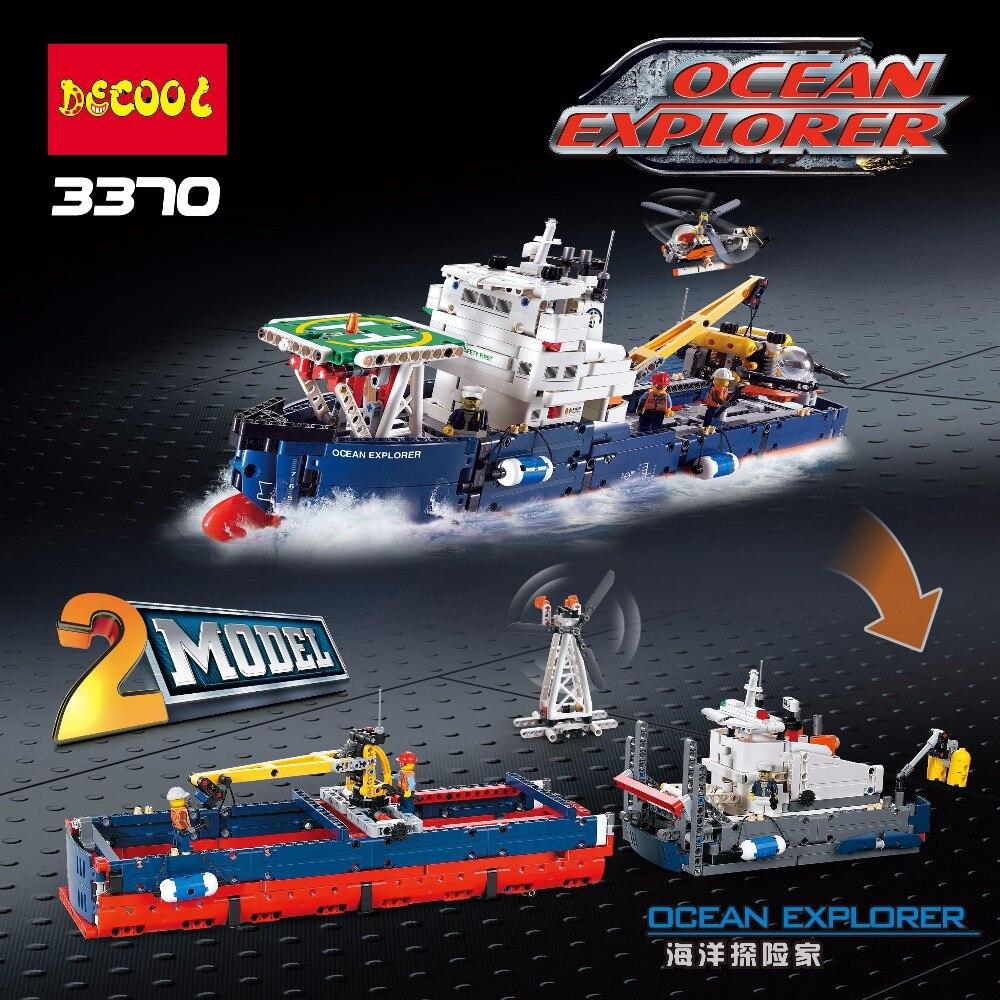 Decool 3370 1342pcs Ocean exploration Legoings 3D DIY Figures toys for children educational building blocks Birthday Gifts 2016 diy decool 3348