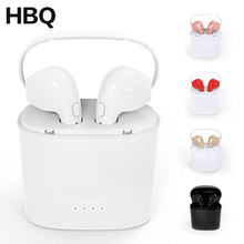 HBQ i7 I7S TWS Headset Earbuds Ture Wireless Bluetooth Double Earphone Twins Earpieces Stereo Binaural Earphones For Smartphones(China)
