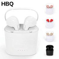HBQ I7 I7S TWS Headset Earbuds Ture Wireless Bluetooth Double Earphone Twins Earpieces Stereo Binaural Earphones