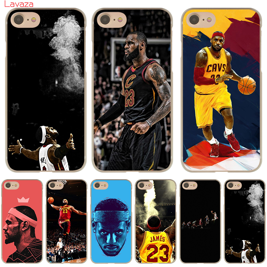 low priced 5e85f d1314 US $1.99 23% OFF|Lavaza LeBron James Hard Phone Case for Apple iPhone 6 6s  7 8 Plus 4 4S 5 5S SE 5C Cover for iPhone XS Max XR Cases-in Half-wrapped  ...