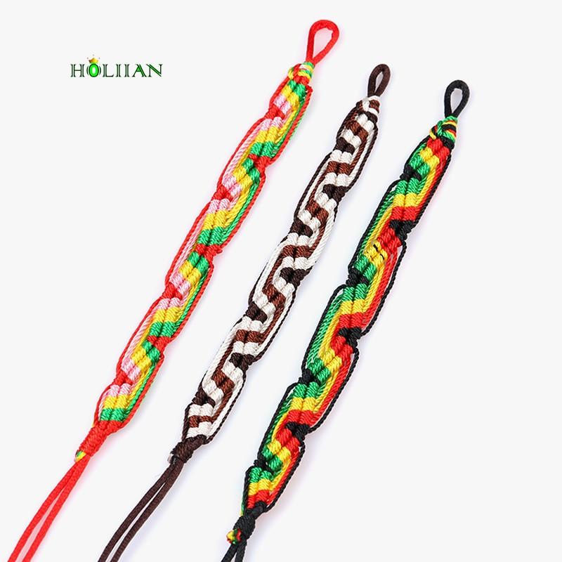 Cheap brazilian bracelet multicolor braided boho chain bohemian tassel handmade sport chain friendship bracelets brown unisex
