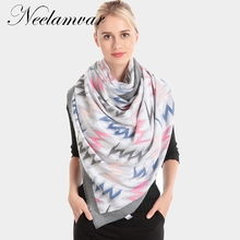 2019 Winter Scarf Women Cashmere Scarves Shawls Soft for Wool Pashmina  Warm Female Poncho Stoles