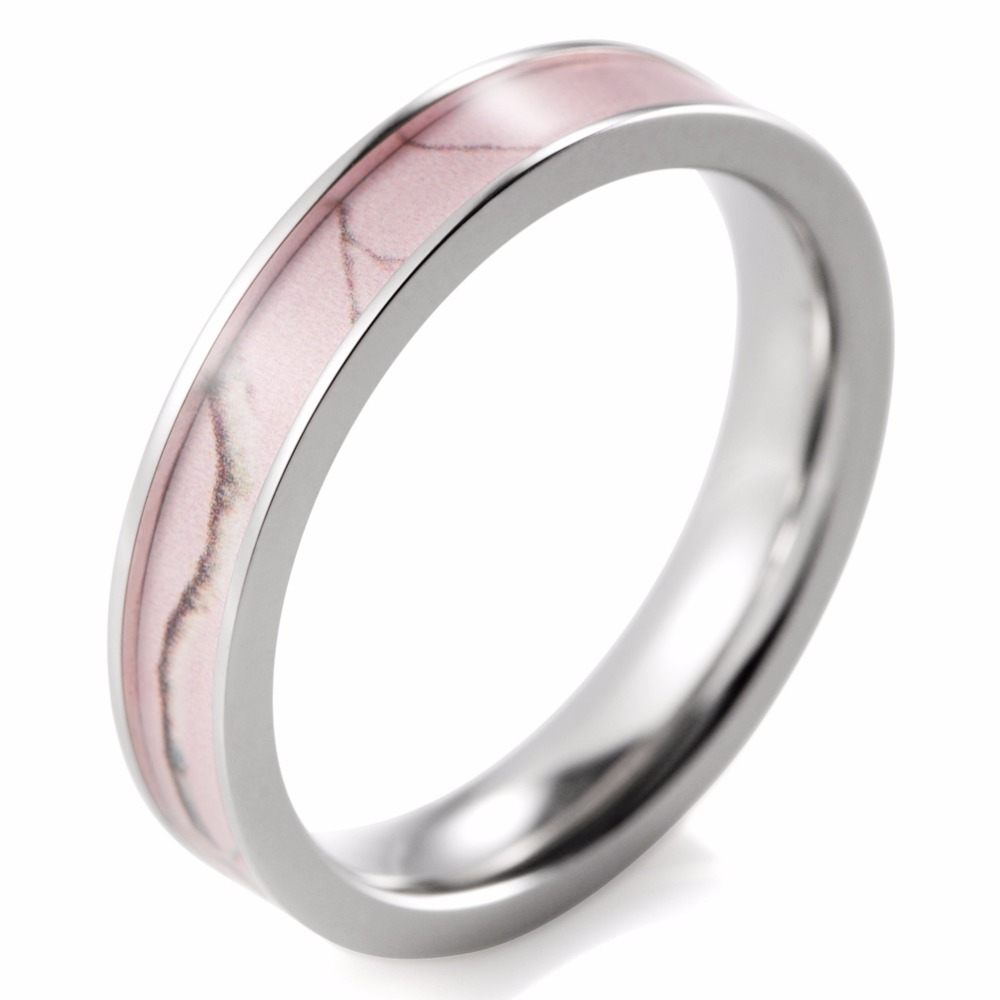 promotion huge wedding rings promotion huge wedding ring SHARDON Women Pink Camo Wedding Ring Thin Titanium Camo Anniversay Wedding Band Engagement Ring for Women
