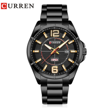 CURREN Men's Luxury Water Resistant Calendar Date Day of Week Quartz Watches