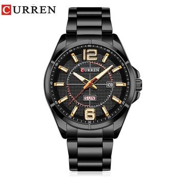 CURREN Men's Luxury Water Resistant Calendar Date Day of Week Quartz Watches