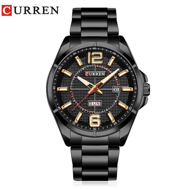 Curren 2017 мужские часы Relógio masculino роскошный военные наручные часы модные повседневные quartzwatch Водонепроницаемость календарь 8271