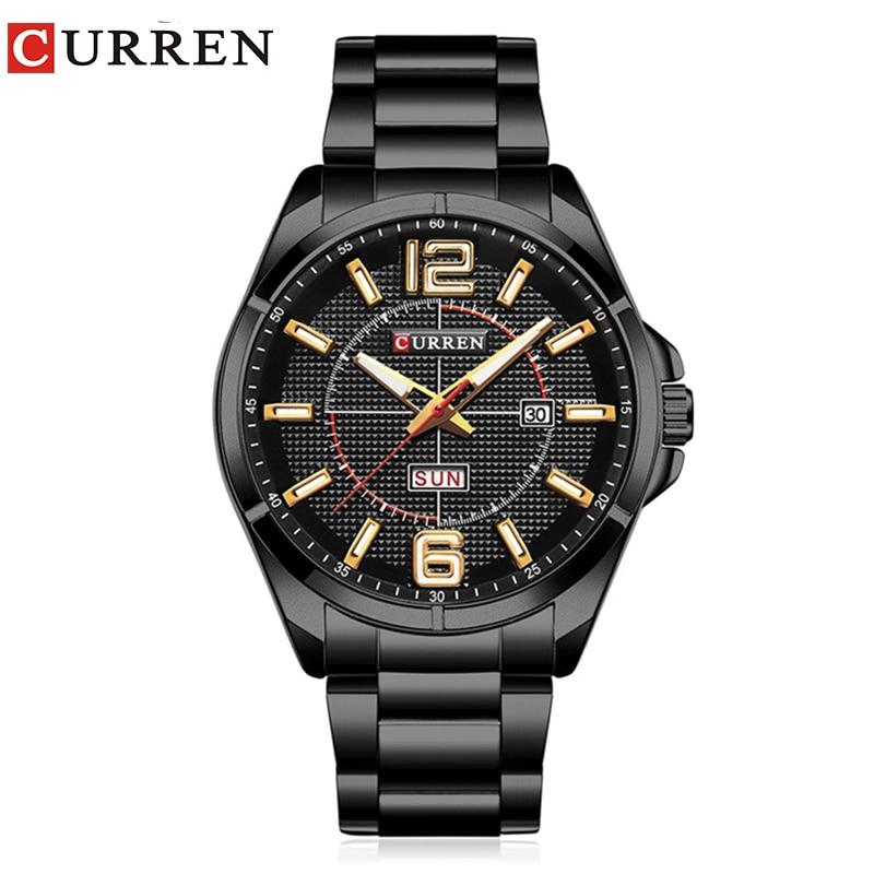 Curren 2017 hommes montres relogio masculino de luxe militaire montres mode casual quartzwatch Résistant À l'eau calendrier 8271
