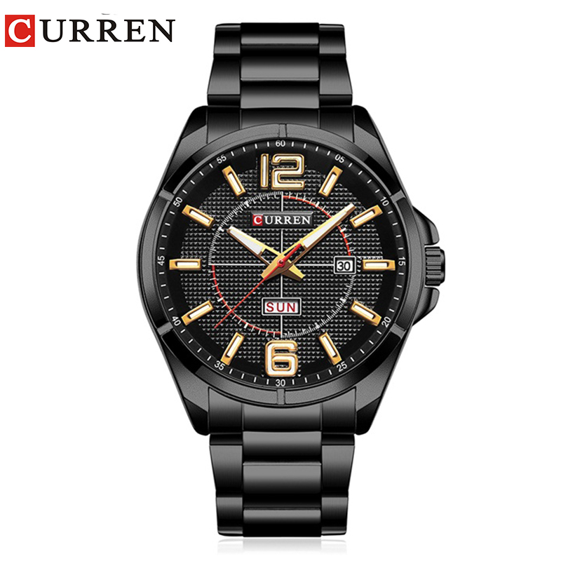 Curren 2017 männer uhren relogio masculino luxury military armbanduhren fashion casual quartzwatch wasserdicht kalender 8271