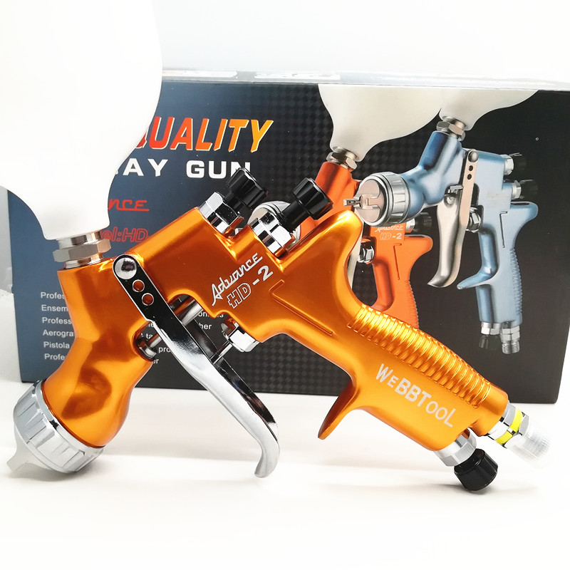 SPRAY GUN HVLP HD 2 Spray Gun Gravity Feed for all Auto Paint 600cc Plastic Pai
