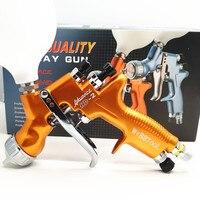 SPRAY GUN HVLP HD 2 Spray Gun Gravity Feed for all Auto Paint ,600cc Plastic Pai sprayer water based automotive guns LVMP