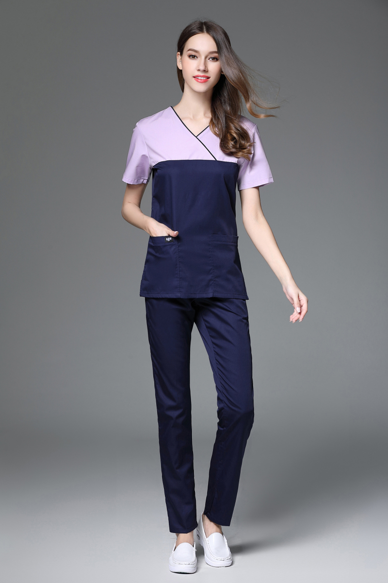 Korea Style Fashion Slim Fit Medical Scrub Sets Beauty Salon Plastic ...