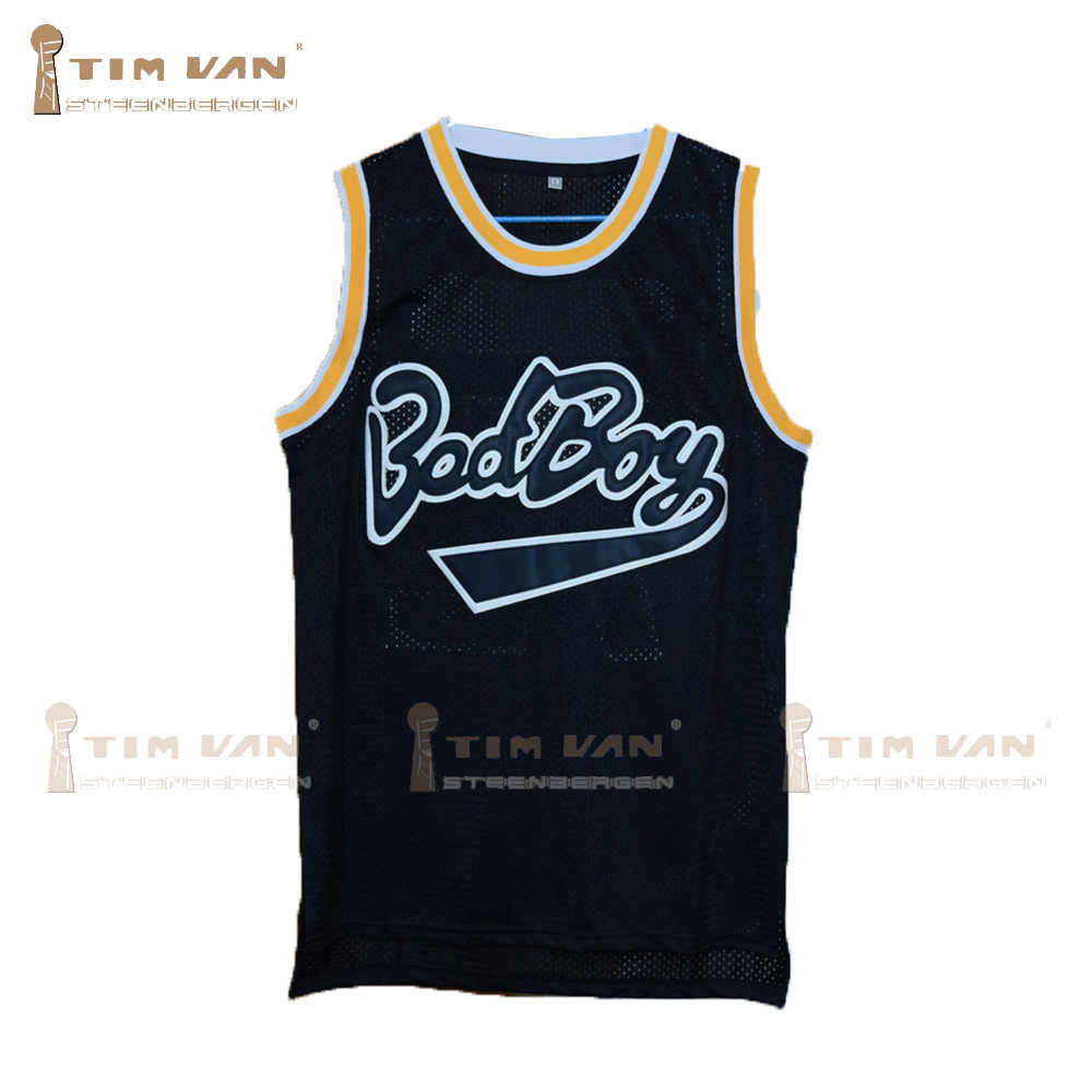 1981cb6143d TIM VAN STEENBERGE Notorious B.I.G. Biggie Smalls 72 Bad Boy Basketball  Jersey Doule Stitched Sewn-