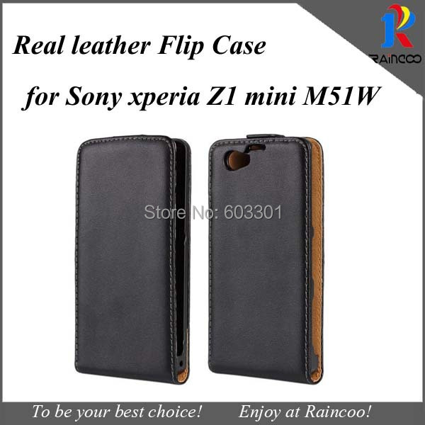 Black Real Leather protective case for sony xperia z1 miniXperia Z1 Protective Case