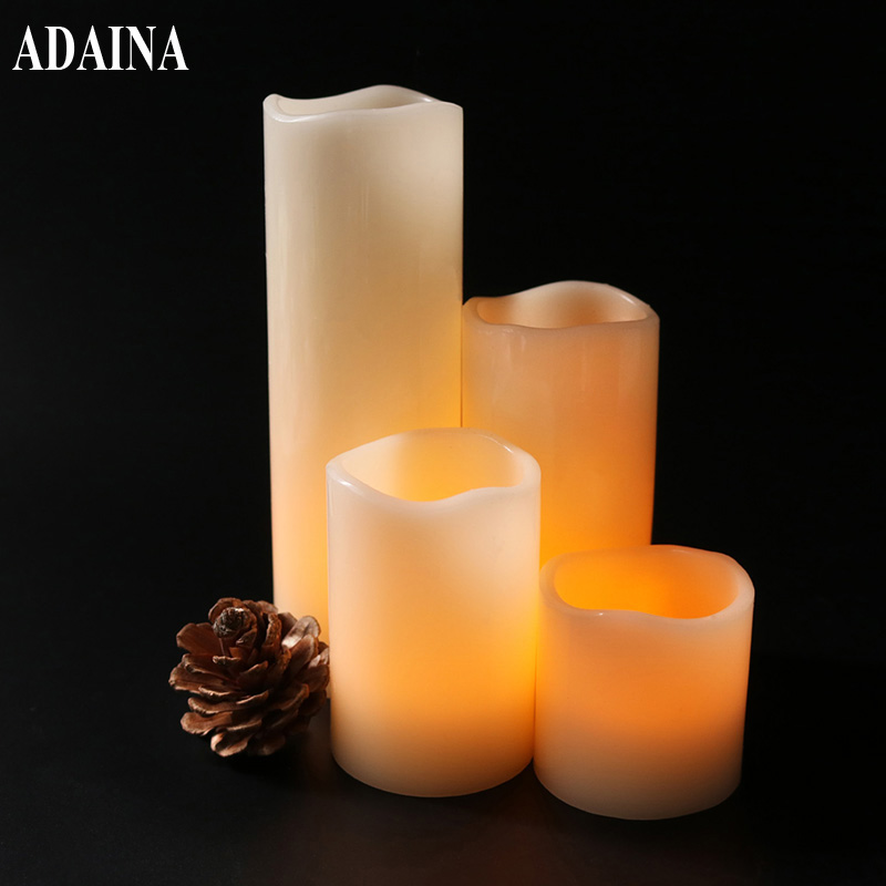 4 Pcs/Pack Remote Control Candle Light Warm Flickering Flameless LED Candles For Home Festival Wedding Party Para Velas De Boda
