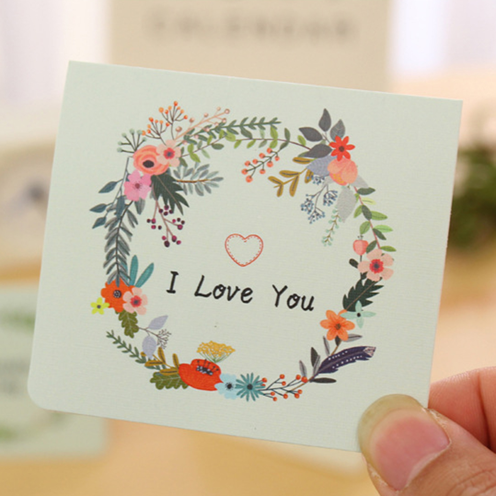 2 Pcs Diy Birthday Cards Dried Flower Greeting Cards Valentines Day