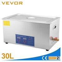 Высокая производительность 600 Вт 30L большой Ёмкость ультразвуковой очистки Нержавеющаясталь приспособление для чистки с сеткой корзины