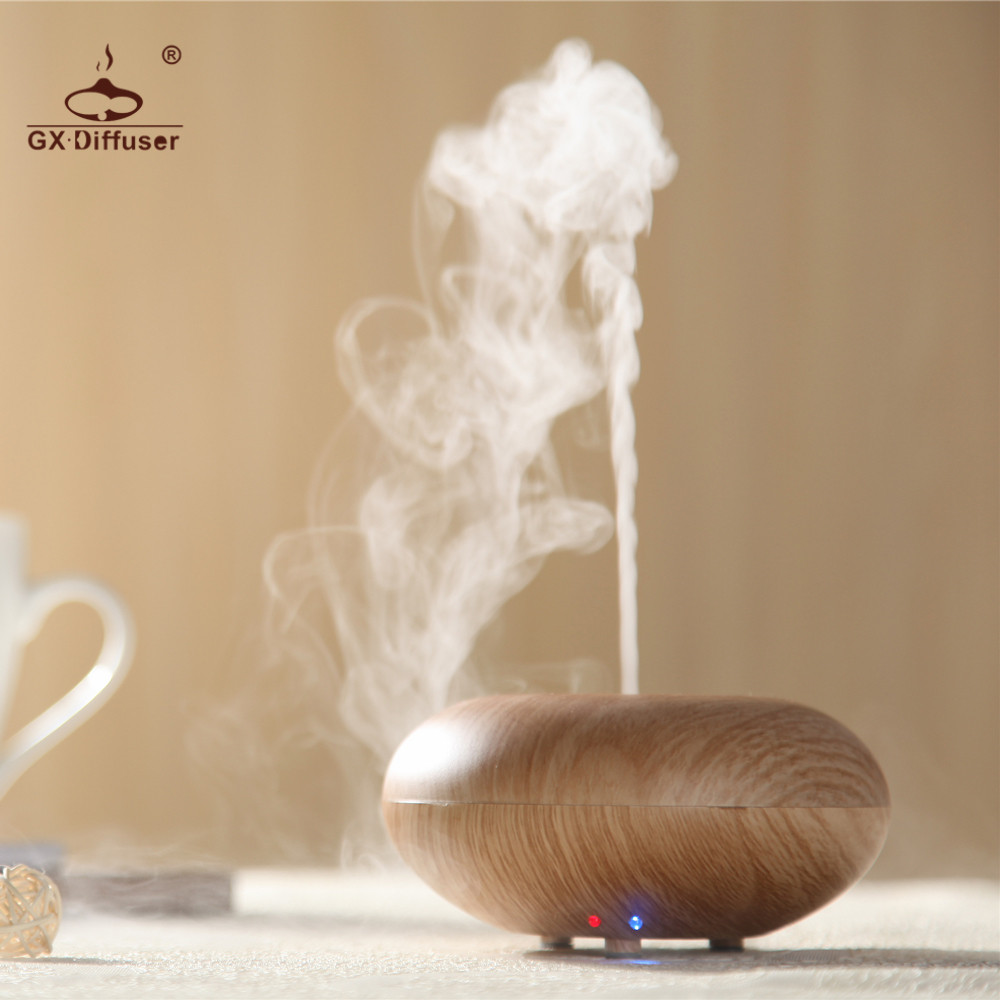 GX.Diffuser Home Essential Oil LED Lamp 7 Changing Colors Ultrasonic Humidifier Aroma Diffuser Aromatherapy Mist Maker Yoga SPA crdc air humidifier ultrasonic 100ml aroma diffuser glass essential oil diffuser mist maker with 7 colors changing led light