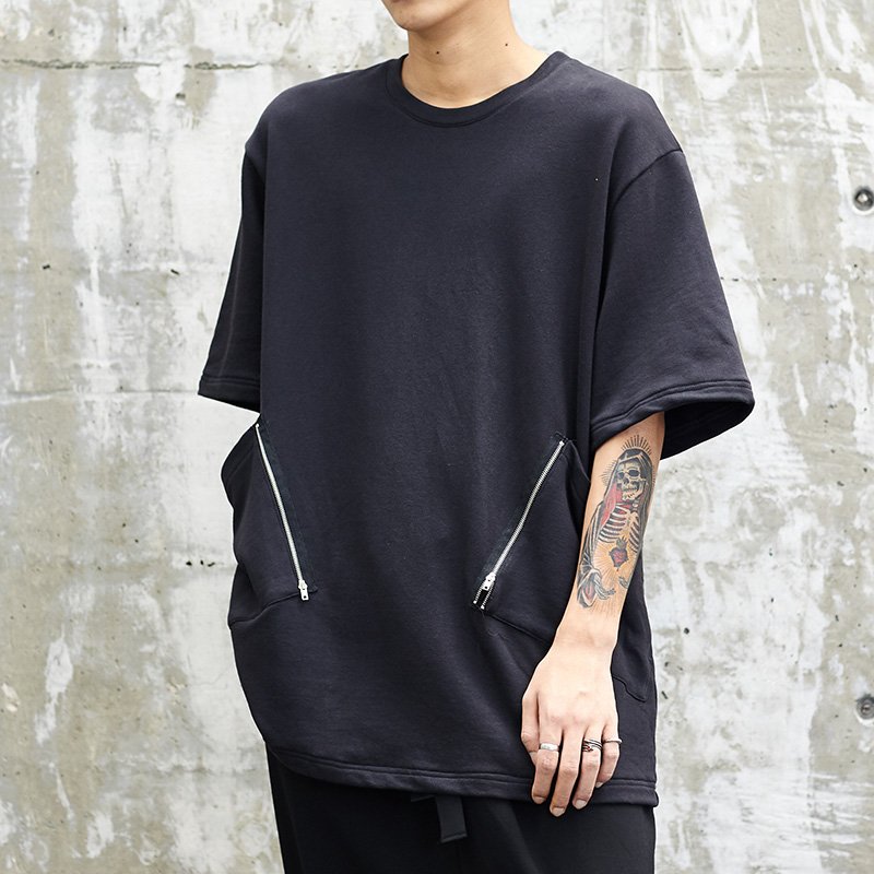 Autumn 2019 New Hip Hop Many Ribbon Pants Men