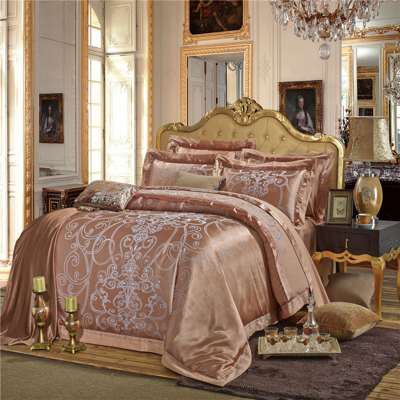rose gold bed sheets