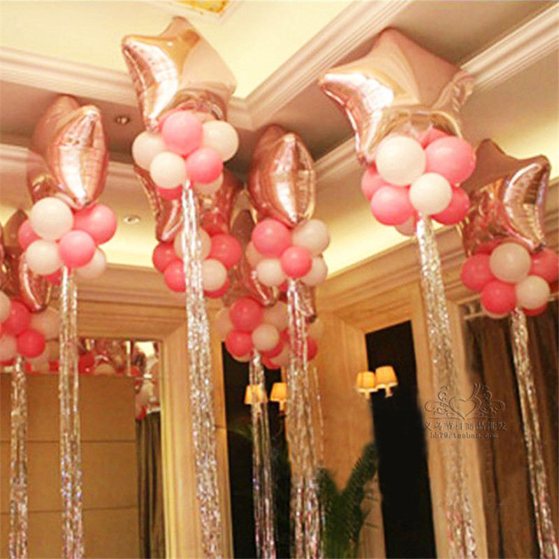 2pcs Birthday Party Balloon Arrangement Balloon Rain