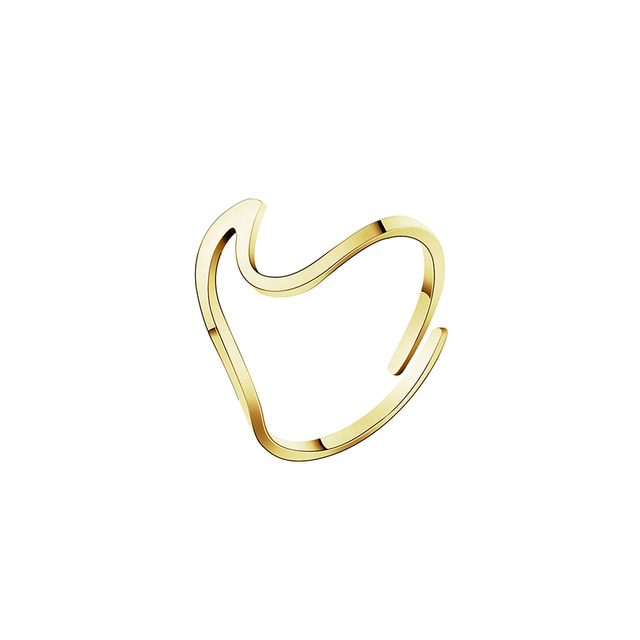 Stainless Steel Wave Ring...