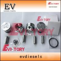 Para Bobcat cargadora de V1305 V1305T pistón + juego de anillos de pistón|Pistones  anillos  varillas y piezas| |  -
