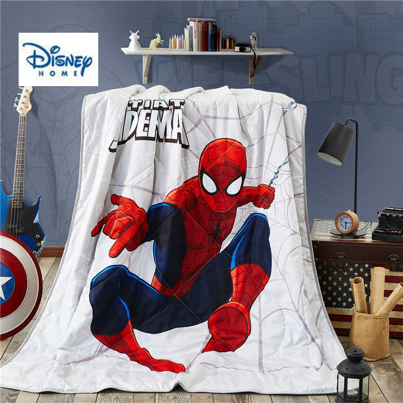 Disney 3d Printed Marvel Spiderman Bedlinen Super Hero Boy Gift Adult Comforter Bedding 100% Cotton Queen Twin Size Summer Quilt Smart Electronics