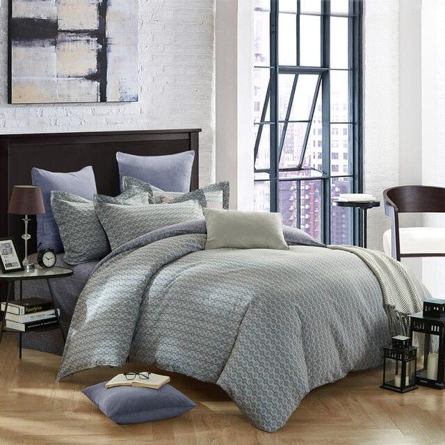 geometric shapes print bedding set 4pcs for queen king size cotton duvet cover set bedsheet pillowcase