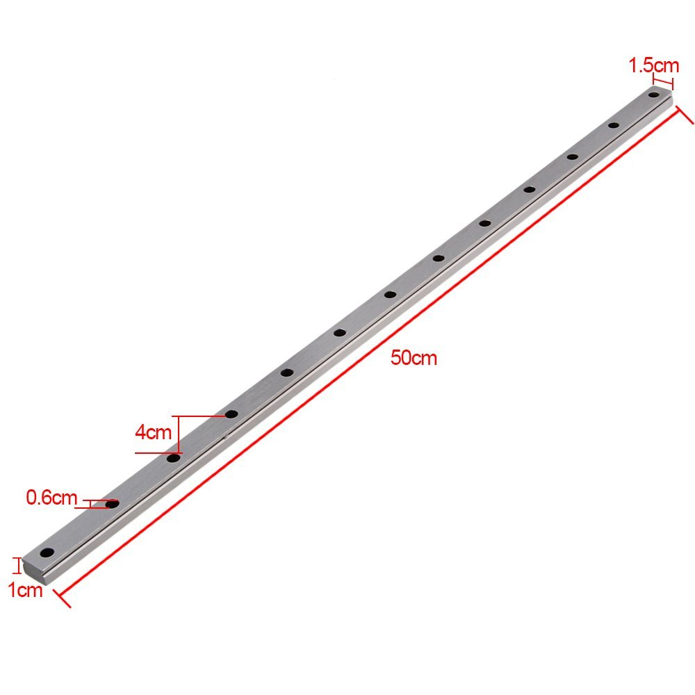 MGN15 500mm Length Bearing Steel Linear Sliding Guideway Rail Silver toothed belt drive motorized stepper motor precision guide rail manufacturer guideway