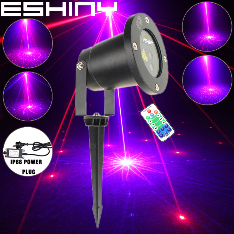 Careful Eshiny Wf Outdoor R&b Blue Laser 16 Big Patterns Projector Coffee Holiday House Xmas Dj Tree Wall Landscape Garden Light N65t50 Relieving Heat And Sunstroke