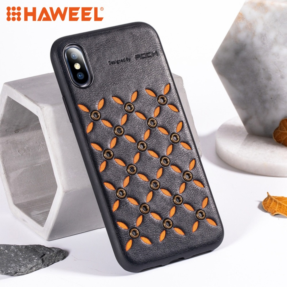 HAWEEL Business TPU + PU Protective Case for iPhone XS / X XR MAX Soft  Cover Shell Guard 4 Style