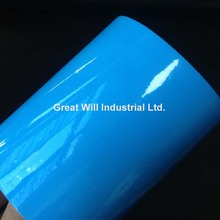 Azure Blue Ultra Glossy Vinyl Wrap with 3 Layers High Gloss Blue Shiny Car Wrap Film Foil with Air Free Size 1.52*20M/Roll