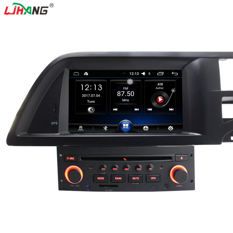 цена LJHANG Android 6.0 Car Radio DVD Player GPS Navigation For Citroen C5 Bluetooth RDS Steering Wheel Control Stereo Radio WIFI USB