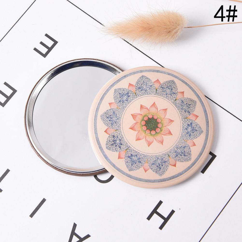 Nice Retro Stil Kosmetikspiegel Kosmetikspiegel Runde Gerätekosmetikspiegel Mini Vintage Hand Spiegel Kleinen Taschenspiegel Geschenk Spiegel Schminkspiegel