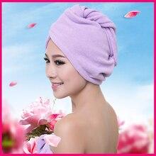 Water-absorbing Dry Hair Cap Sweet Type Superfine Fiber Soft Towel Bath Head Wrap Turban Shower Cap lx 9009 cozy fiber bath towel shower cap deep pink