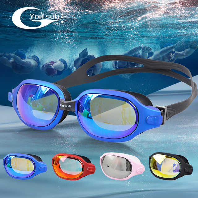 53be22bf0d62 HD Plating Swimming Goggles Professional Waterproof Anti-fog Man Women  Swimming Glasses Four Colors YG1288