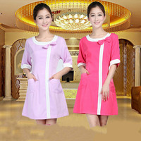 Medical Uniforms Nursing Scrubs Clothes for Beauty Shop Short Sleeve Doctor Clothing Uniformes Hospital Women Work Dress