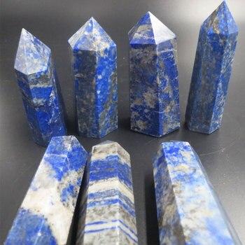 (7pcs/lot) 500grams 100% Natural Lapis Lazuli Quartz Crystal Points Single Terminated Healing Wand Polished