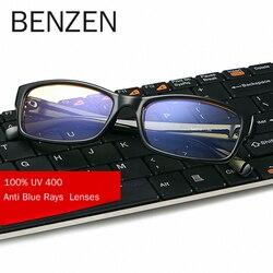 BENZEN Anti Blue Rays gogle komputerowe okulary do czytania UV400 okulary odporne na promieniowanie okulary gamingowe z etui 5021