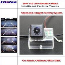 Liislee wysokiej jakości inteligentny Parking tylna kamera cofania dla Mazda 6 Mazda6 2002 ~ 2008 NTSC PAL RCA SONY CCD tanie tanio CN (pochodzenie) Plastikowe + Szkło Drutu ACCESSORIES Pojazd backup kamery Z tworzywa sztucznego