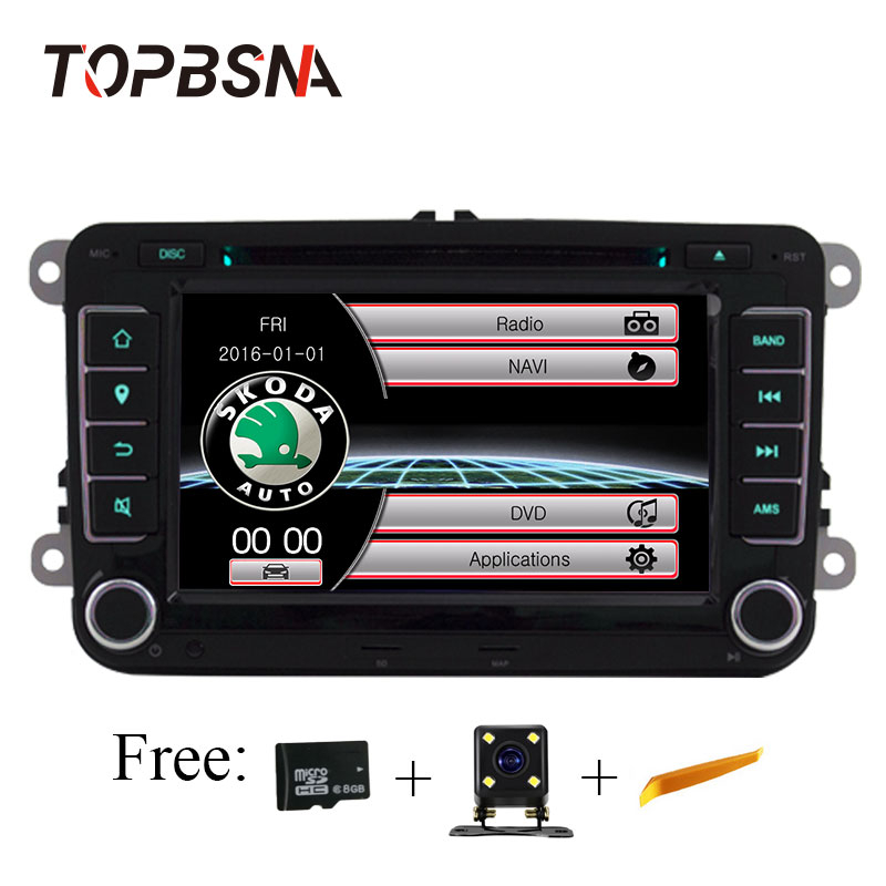 TOPBSNA 7 Inch Car Multimedia For Skoda/Octavia/Fabia/Rapid/Yeti/Superb/VW/Seat car dvd player Automotivo GPS Navigation Stereo