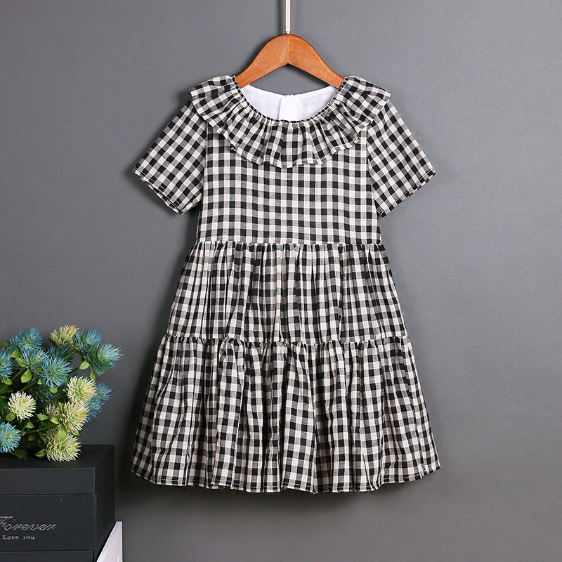 Casual Dresses European Style children clothes women girls family matching clothes mother daughter dresses Cotton Retro A Line