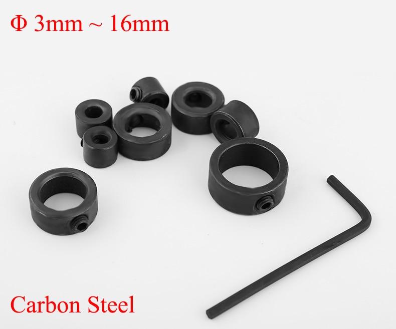 3mm 4mm 5mm 6mm 8mm 10mm 12mm 16mm Carbon Steel Wood Drill Bit Clamp Locator Positioner Guide Spacing Ring Depth Stop Collar