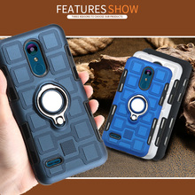 Luxury Magnetic Ring Stand mobile Case For LG K8 K10 2018 Cover Shell sFor LG