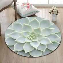 Круглый дверной коврик для гостиной, напольная подушка для столовой, коврики для ванной комнаты, Нескользящие ковры, кактус, текстура фона, природа, растение