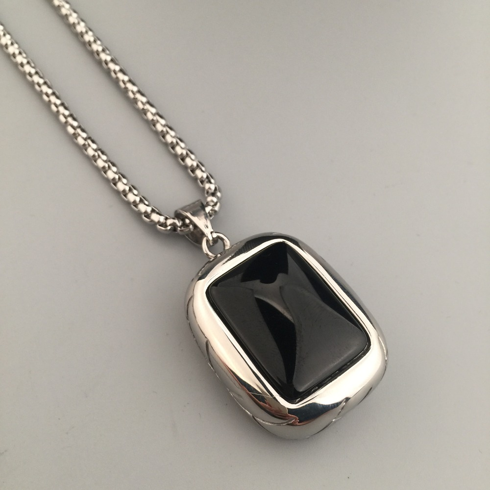 New fashion dog tag big crystal stone pendant necklace titanium new fashion dog tag big crystal stone pendant necklace titanium steel link chain mens hip hop punk necklace jewelry in pendant necklaces from jewelry aloadofball Choice Image